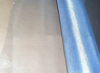 A roll bluish white galvanized insect screen.
